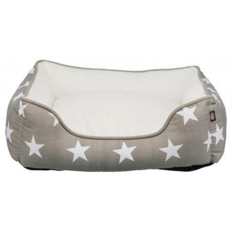 Лежак с бортиком Stars, 65 × 50 см, тёмно-серый/белый