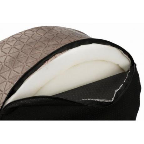 Лежак с бортиком Camiro, 55 × 45 см, тёмно-коричневый/бежевый