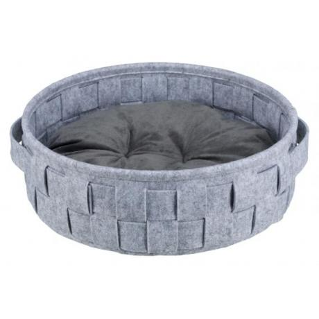 Лежак Lennie, ø 40 см, серый