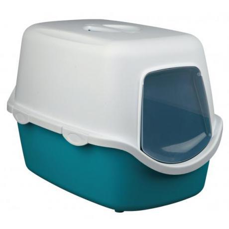 Туалет-домик Vico, 40 × 40 × 56 см, аквамарин/белый