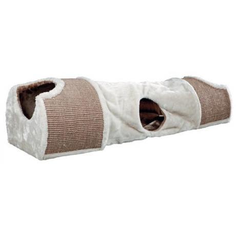 Туннель-когтеточка 110 x 30 x 38 см, светло-серый/коричневый