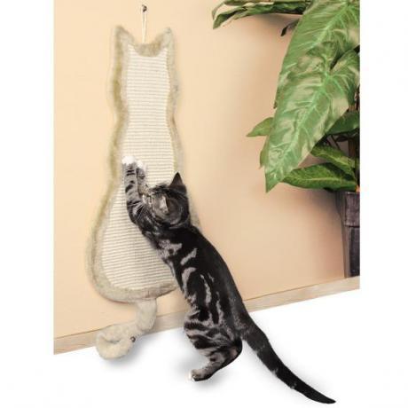 """Когтеточка """"Кошка"""", 35х69 см, бежевый"""