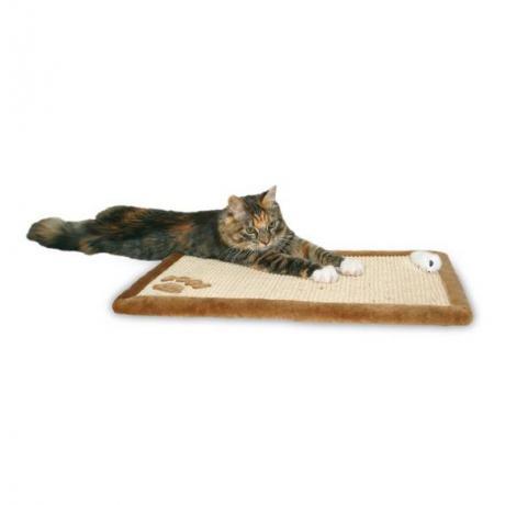 Когтеточка-коврик, 55 х 35 см, коричневый