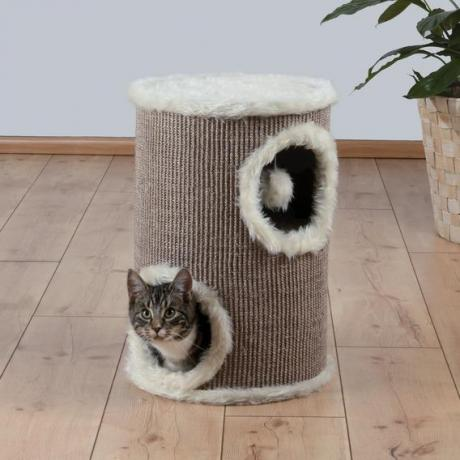 Домик-башня для кошки Edorado, ø 33/50 см, коричневый/бежевый