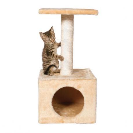 Домик-когтеточка для кошек Zamora, 61 см, бежевый