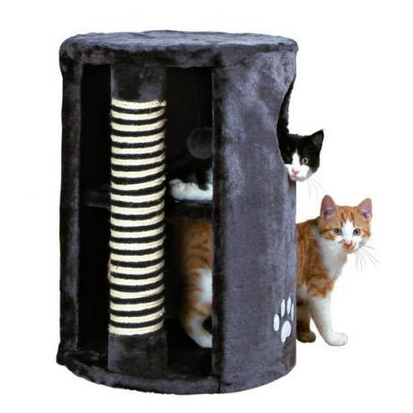 Домик-башня для кошки Dino с когтеточкой, ø 41 х 58 см