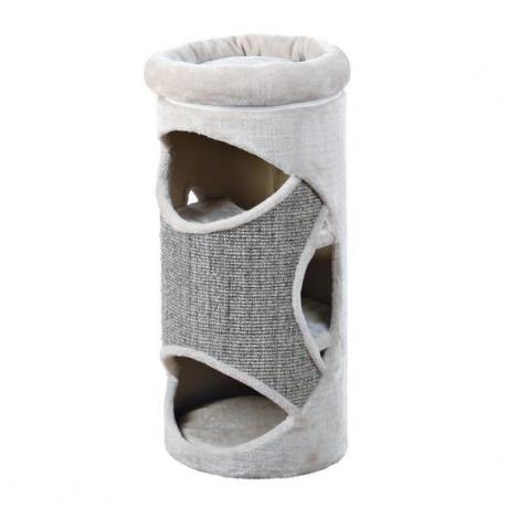 Домик-когтеточка Gracia, 85 см, светло-серый