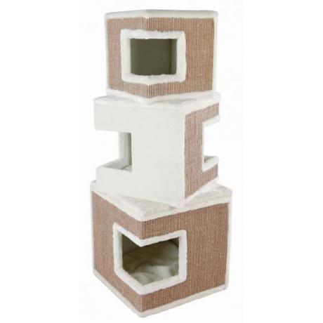 Домик для кошки Lilo, 123 см, белый/коричневый