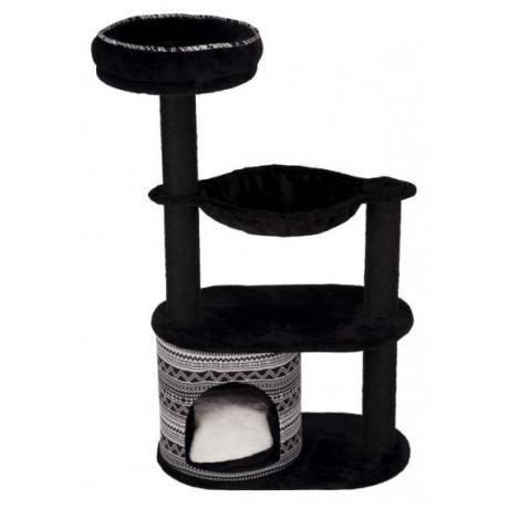 Домик игровой для кошек Giada, 112 см, чёрный/белый