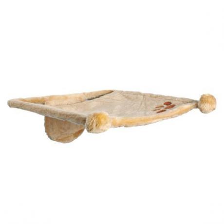 Лежак с креплением на стену для кошки , 42 х 41 см, бежевый, плюш