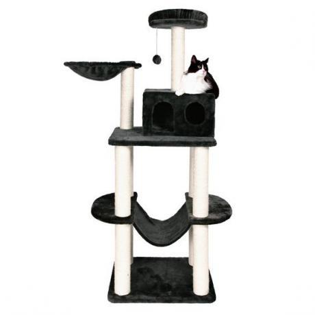 Домик для кошки Tarragona, 162 см, плюш, антрацит