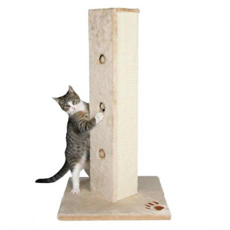 Когтеточка-столбик Soria, 45х80х45 см, бежевый