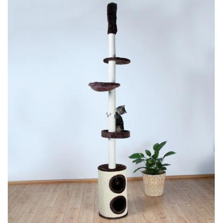 Домик игровой комплекс когтеточка для кошек Linea, 225-265 см, плюш, коричневый
