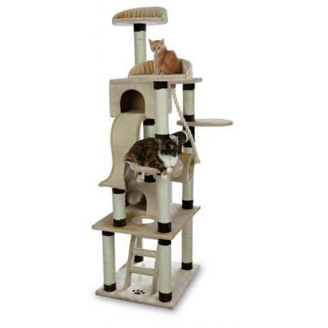 Домик игровой для кошек Adiva, 209 см, бежевый/коричневый