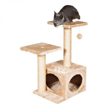 Домик когтеточка игровой комплекс для кошек Valencia, 71 см, бежевый
