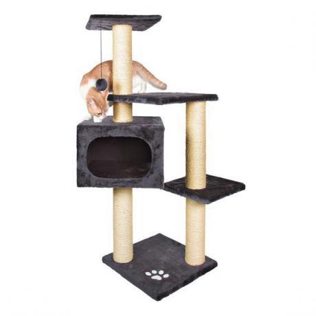 Домик когтеточка игровой комплекс для кошек Palamos, 109 см, антрацит