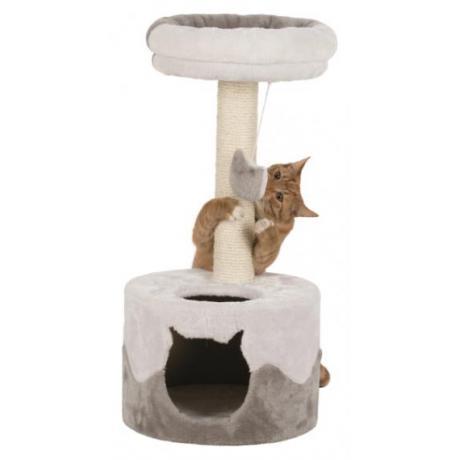 Домик для кошки Nuria, 71 см, белый/серый