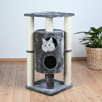 Домик когтеточка игровой комплекс для кошек Vigo, 94 см, платиновый