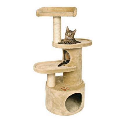 Домик когтеточка игровой комплекс для кошек Oviedo, 105 см, бежевый