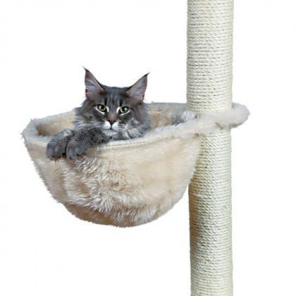 Лежак когтеточка игровой для кошек к домику, ø 38 см, кремовый