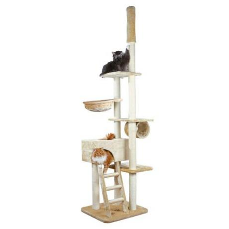 Домик игровой комплекс для кошек Zaragoza, 220-260 см, плюш, бежевый