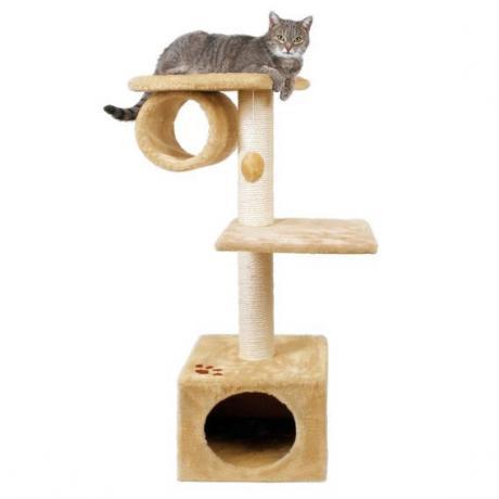 Домик игровой  для кошек San Fernando, 106 см, плюш, бежевый