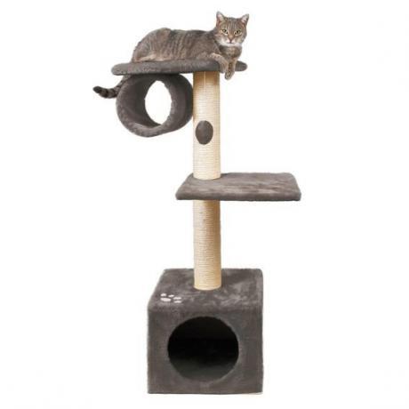Домик игровой для кошки San Fernando, 106 см, плюш, серый