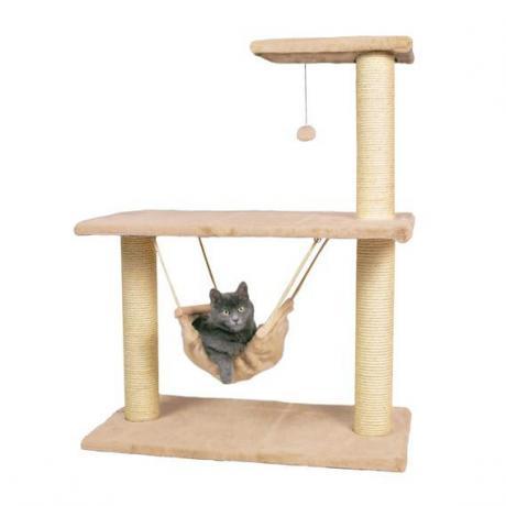Домик игровой для кошки Morella, 96 см, плюш, бежевый
