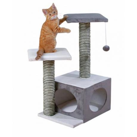 Домик для кошки Neo, 71 см, кремовый/серый