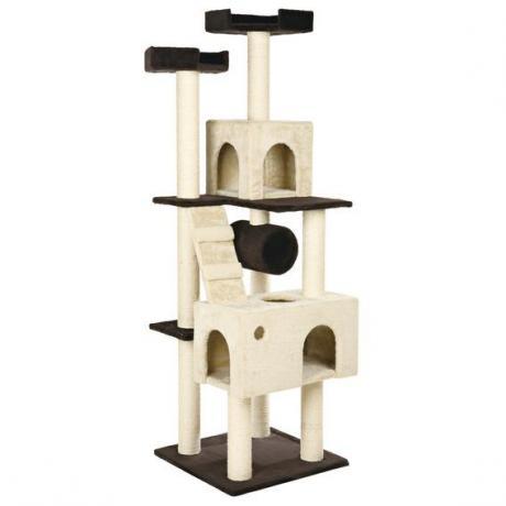 Домик для кошки Mariela, 176 см, коричневый/бежевый
