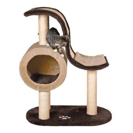 Домик игровой для кошки Nerja, 99 см, бежевый/коричневый