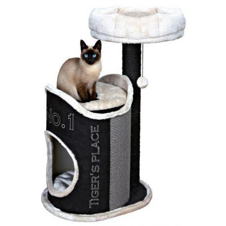 Домик для кошки Susana, искуственная замша/плюш, чёрный, 90 см