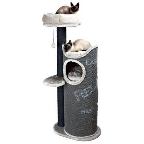Домик для кошки Juana, 134 см, тёмно-серый/светло-серый