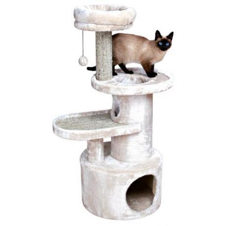 Домик когтеточка игровой комплекс для кошек Alessio, 111 см, светло-серый