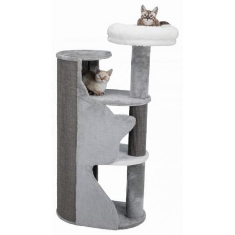 Домик для кошки Adele, 120 cм, серый/белый/серый