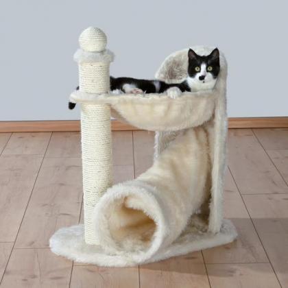 Домик игровой комплекс когтеточка для кошек Gandia, 68 см, кремовый