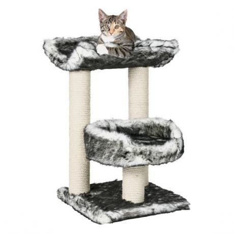 Домик для кошки Isaba, 62 см, чёрный/белый