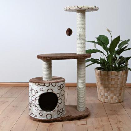 Домик когтеточка игровой комплекс для кошек Casta, 95 см, коричневый/бежевый