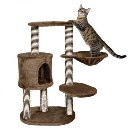 Домик игровой комплекс когтеточка для кошек Morilles, 99 см, коричневый