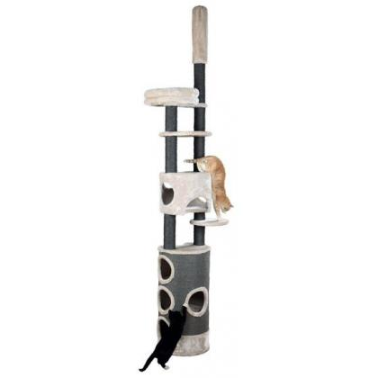 Домик-когтеточка для кошек Esma, 243–270 см, светло-серый