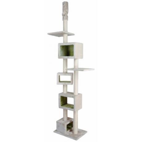 Домик когтеточка игровой для кошек Tomaso, 240–260 см, светло-серый/лимонный