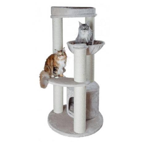 Домик для кошки Carlos, 159 см, светло-серый