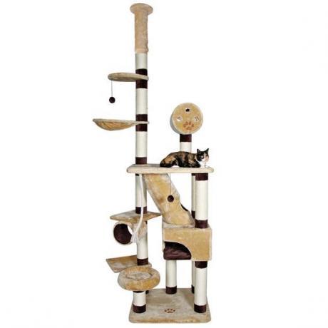 Домик игровой для кошки Belorado, 246-280 см, бежевый/коричневый