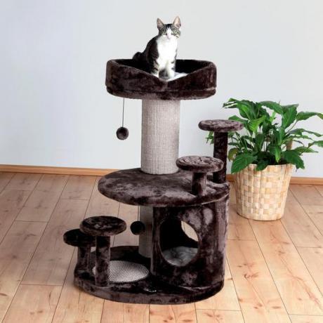 """Домик для кошки """"Сеньор кот - Эмиль"""", 96 см, коричневый/бежевый"""