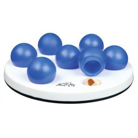 """Развивающая игрушка для кошек """"Солитёр"""" ø 20 см, белый/синий"""