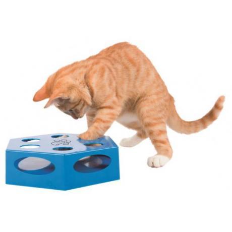 Игрушка для кошки Turning Feather, пластик, 22 см, синий