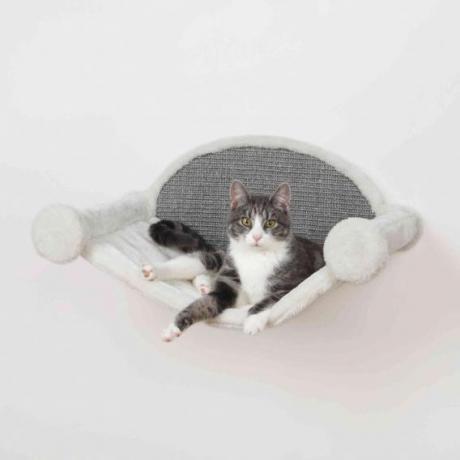Гамак для кошек весом до 5 кг, 54 × 28 × 33 см, кремовый