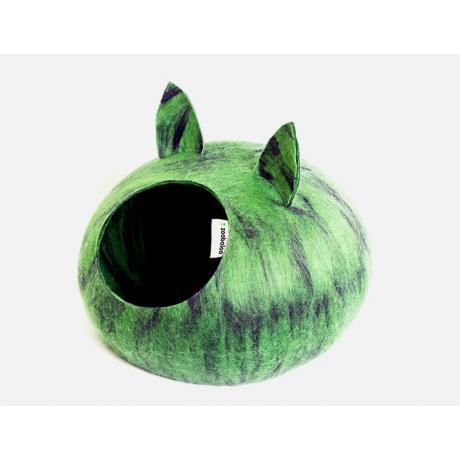 Домик для кошек Слипер с ушками WoolPetHouse, мультиколор зеленый