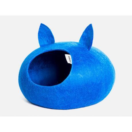 Домик для кошек Слипер с ушками WoolPetHouse, синий