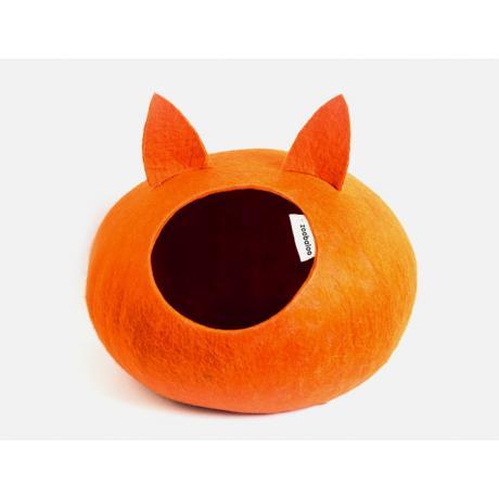 Домик для кошек Слипер с ушками WoolPetHouse, оранжевый
